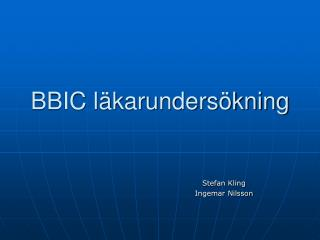 BBIC l karunders kning