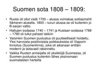 Suomen sota 1808   1809: