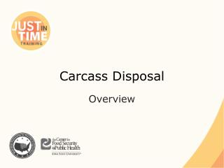 Carcass Disposal