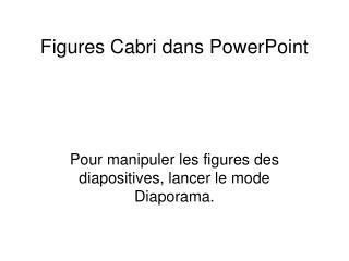 Figures Cabri dans PowerPoint