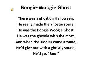 Boogie-Woogie Ghost