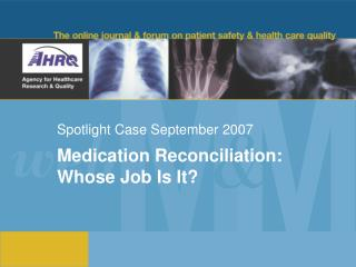 Spotlight Case September 2007