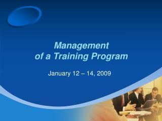 Management  of a Training Program