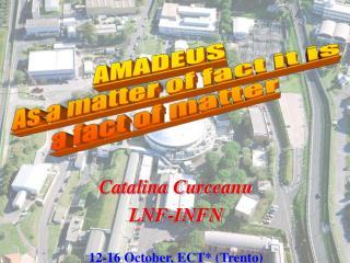 Catalina Curceanu  LNF-INFN  12-16 October, ECT Trento