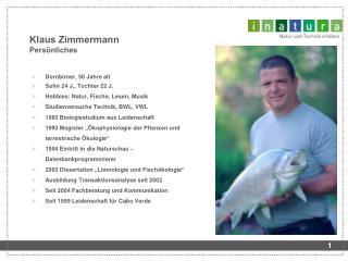 Klaus Zimmermann Pers nliches