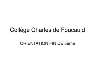 Coll ge Charles de Foucauld