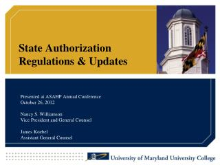 State Authorization  Regulations  Updates