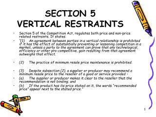 SECTION 5  VERTICAL RESTRAINTS