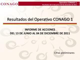 Resultados del Operativo CONAGO 1