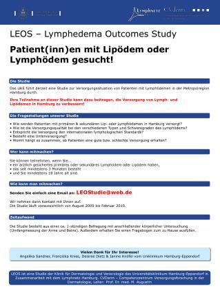 LEOS   Lymphedema Outcomes Study Patientinnen mit Lip dem oder Lymph dem gesucht