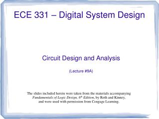 ECE 331   Digital System Design
