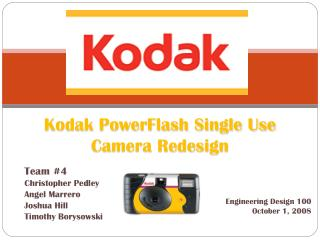 Kodak PowerFlash Single Use Camera Redesign