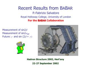 Recent Results from BABAR