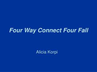 Four Way Connect Four Fall