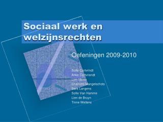 Sociaal werk en welzijnsrechten