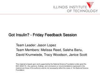 Got Insulin - Friday Feedback Session