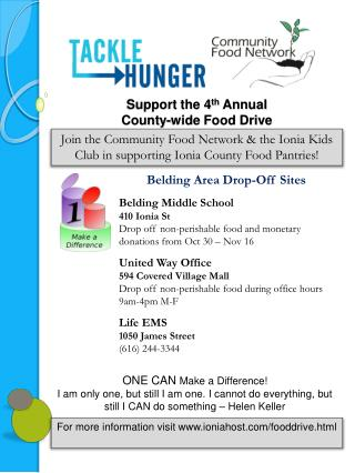 Support the 4th Annual  County-wide Food Drive