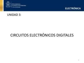 CIRCUITOS ELECTR NICOS DIGITALES