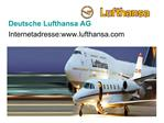 Deutsche Lufthansa AG Internetadresse:lufthansa