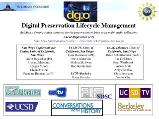 Digital Preservation Lifecycle Management Building a demonstration prototype for the preservation of large-scale multi-m