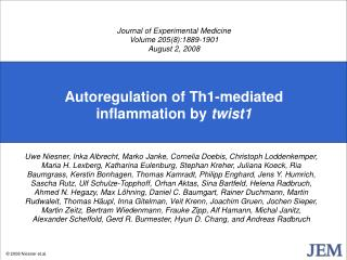 Autoregulation of Th1-mediated inflammation by twist1