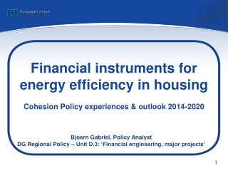 CONFERENCE    Energy Saving Measures in High-Rise Residential Buildings and Financial Mechanisms