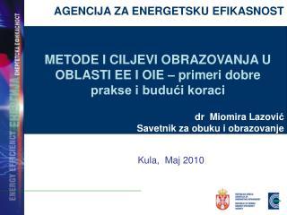 AGENCIJA ZA ENERGETSKU EFIKASNOST