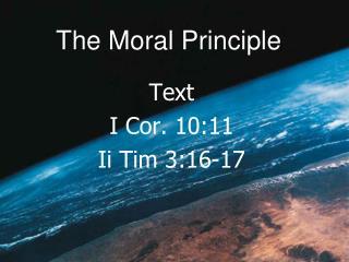 The Moral Principle