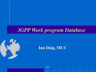 3GPP Work program Database