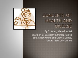 Concepts of Health and Disease