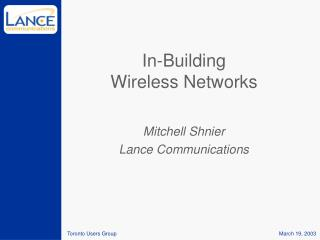 In-Building Wireless Networks