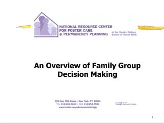 An Overview of Family Group Decision Making