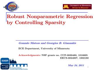 Robust Nonparametric Regression by Controlling Sparsity