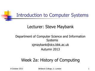 Introduction to Computer Systems