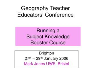 Geography Teacher Educators  Conference