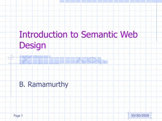 Introduction to Semantic Web