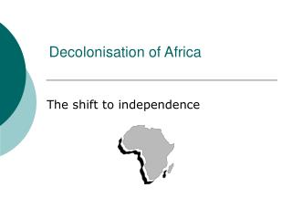 Decolonisation of Africa