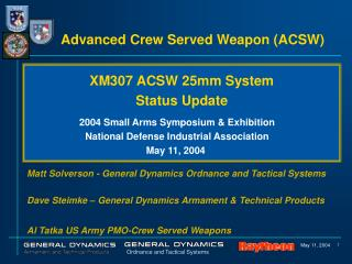 Advanced Crew Served Weapon ACSW