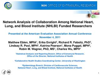 Network Analysis of Collaboration Among National Heart, Lung, and Blood Institute NHLBI Funded Researchers