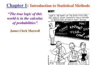 Chapter 1: Introduction to Statistical Methods