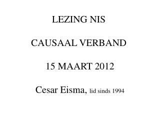 Causaal Verband
