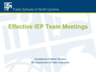 Effective IEP Team Meetings
