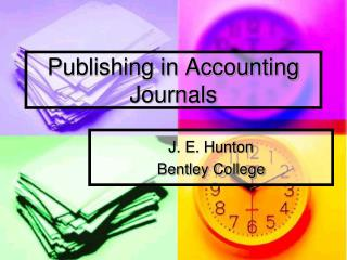 Publishing in Accounting Journals