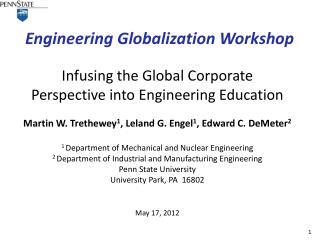 Engineering Globalization Workshop