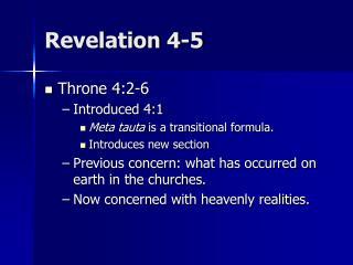 Revelation 4-5