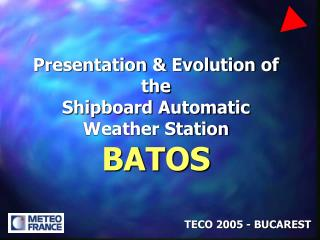 Presentation  Evolution of the  Shipboard Automatic Weather Station BATOS