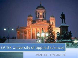 EVTEK University of applied sciences