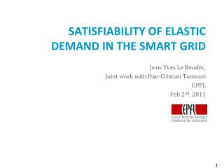 Satisfiability of Elastic Demand in the smart grid