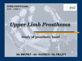 Upper Limb Prostheses
