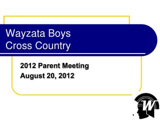 Wayzata Boys  Cross Country